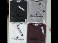 Stone island men's t shirt short sleeves round neck 6 colours sizes: S to XXL £15 each cotton