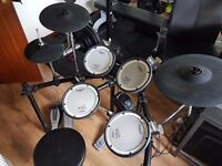 Roland TD-4KX2 Electronic Drum Kit with Pearl Demonator Dual Pedals