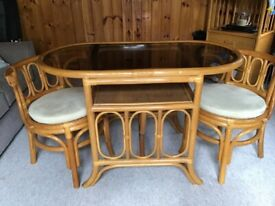 Bistro set table and chairs