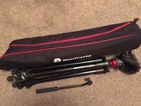 Manfrotto Lightweight Fluid Video System with Aluminium Legs MVH500AH & 755XBK