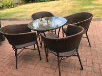 Rattan garden table and x4 chairs PERFECT CONDITION