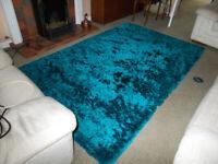 Lovely plush blue rug