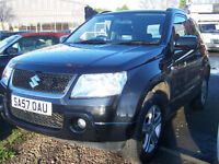 2007 57 PLATE NEW MODEL SUZUKI GRAND VITARA METALLIC BLACK GREAT SPECIFICATION NEW MOT ONLY £3995