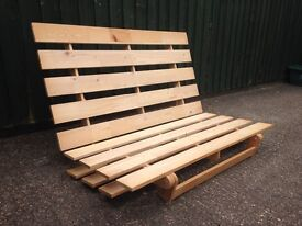 Ikea Futon double bed wooden frame