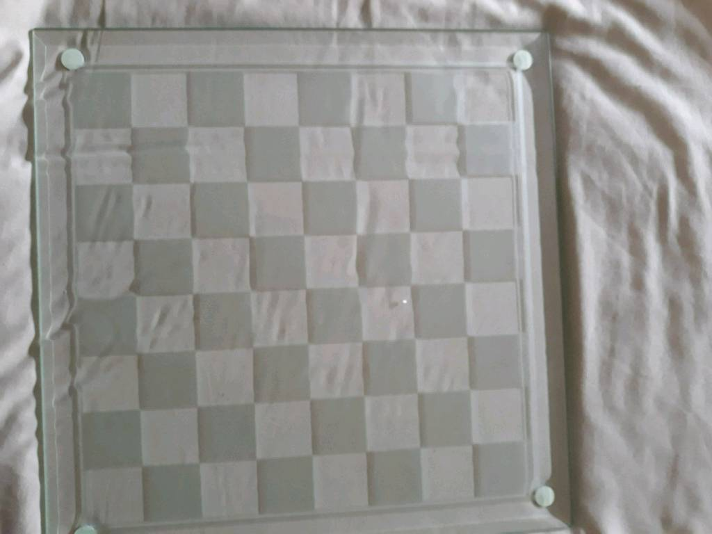 Glass chest board and set