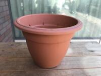 round bell planter / trough / round planter / terracotta colour plant pots different style