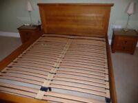 King Size Oak Frame Bed