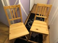 Pine wood chairs for free