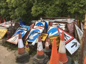 Road signs job lot