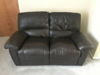 Leather 2 Seater Recliner Good Condition