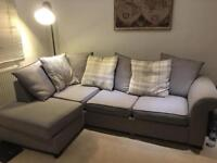 DFS Grey Corner Sofa with Sofa Bed