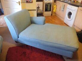 Chaise longue sofa, teal blue