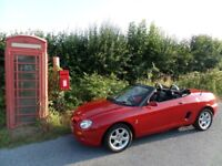 1996 MG TF MGF 1.8 Petrol Manual Flame Red with Chrome Roof Hoops + Hardtop & Two Sets of Wheels