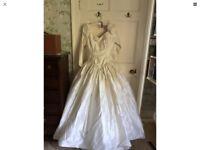 Ivory Silk Wedding Dress 12/14