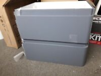 Brand New Wall Hung Grey Gloss Sink - 600mm