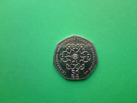 "RARE 2010 ""Celebrating One Hundred Years Of Girlguiding UK"" 50p Coin"