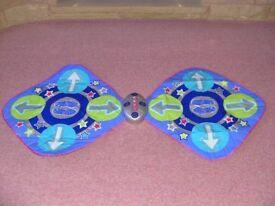 Double musical dance mat