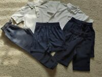 Bundle of sports clothes-Age 7-8-Joggers/Shorts/Polo shirts-6 items- All M&S-Excellent condition