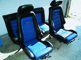 Recaro leather seat. VW golf mk3