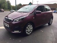 2015 Peugeot 108 active top 1.0 11k from new bargain cheap