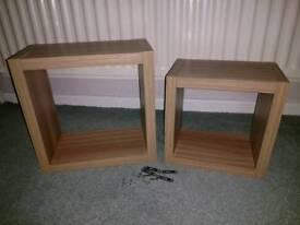 2 x NEW box shelves oak effect