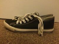 Girls new look converse size 4 shoes