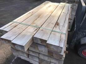 🌟 New French Oak Timber Railway Sleepers