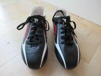 Football studded boots, size 6 uk, Umbro black, white, red.