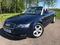 2005 05 AUDI A4 CABRIOLET 1.8T - AUGUST 2018 M.O.T - FULL LEATHER INTERIOR - GOOD EXAMPLE!
