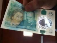 Ak five pound note