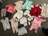 Up to 1 month baby clothes bundle