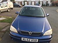 Vauxhall Astra Automatic Low mileage. 1 Year MOT