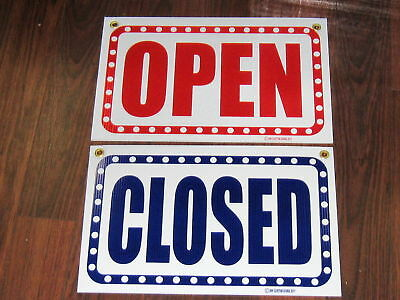 General Business Sign Open Closed Double Sided Sign