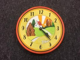 Colourful porcelain battery operated wall clock SDHC *NOW SOLD*