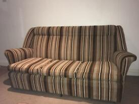 Vintage/Retro 1970s Orange & Brown Sofa