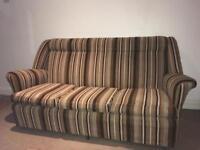 Vintage/Retro 1970s Orange & Brown Sofa