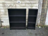 lovely pair of Ikea bookshelves