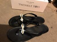 Black ted baker size 7 slippers