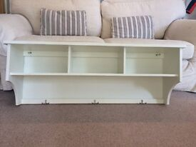 The Cotswold Company cream coat rack and storage unit