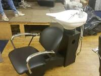 Salon back wash and chair and 2 other chairs