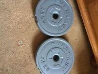 Everlast weight plate2.5kg x 4 in great condition