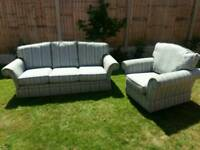 Traditional fabric sofa