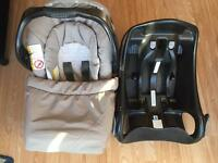 Graco junior car seat and car base