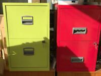 2 draw filing cabinets