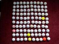 100 Golf Balls Titleist Nike Callaway Srixon Pinnacle Top Flite and more Bargain Bagful