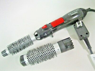 """Revlon RV444C Hot Air Brush Styler and Dryer with Ceramic  1"""" and 1 1/2"""""""