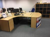 Oak Finish office Desks