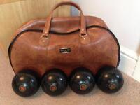 Lawn Bowls and bag