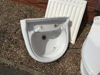Twyfords classic white washbasin & WC with taps
