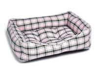 Brand New - Pink Tartan Luxury Sofa Pet Dog Bed (Large)